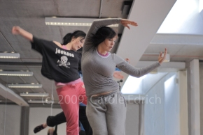 Hull Truck Youth dancers rehearsing in April 2009