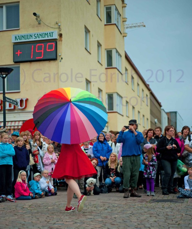 competing in the rain at Vuokatti Dance Festival