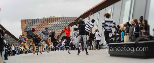 flashmob dancers at Westfield Stratford
