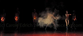 LCP Dancers performing Rights with smoke and hand held torches