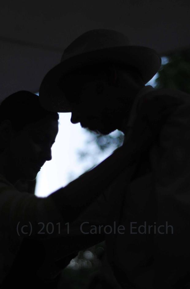 tango dancing silhouettes