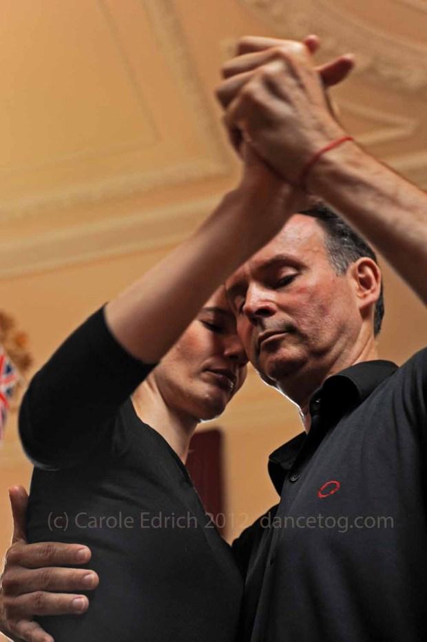tango dancers at Abrazos London, Jubilee Weekend
