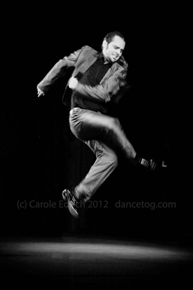 Jairo Burrel jumping at Chelmsford Civic Theatre