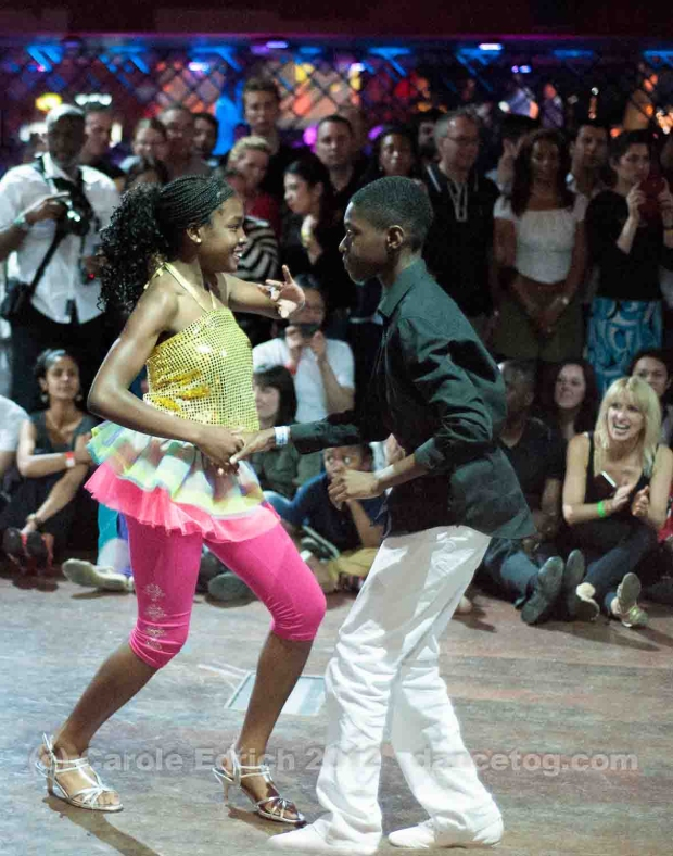 London Goes Latin: two of the kids from the Salsa Naturally performance