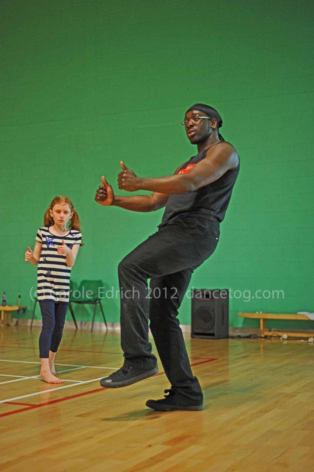 Isaac Fletcher running a workshop for juniors at Redbridge Sports Centre