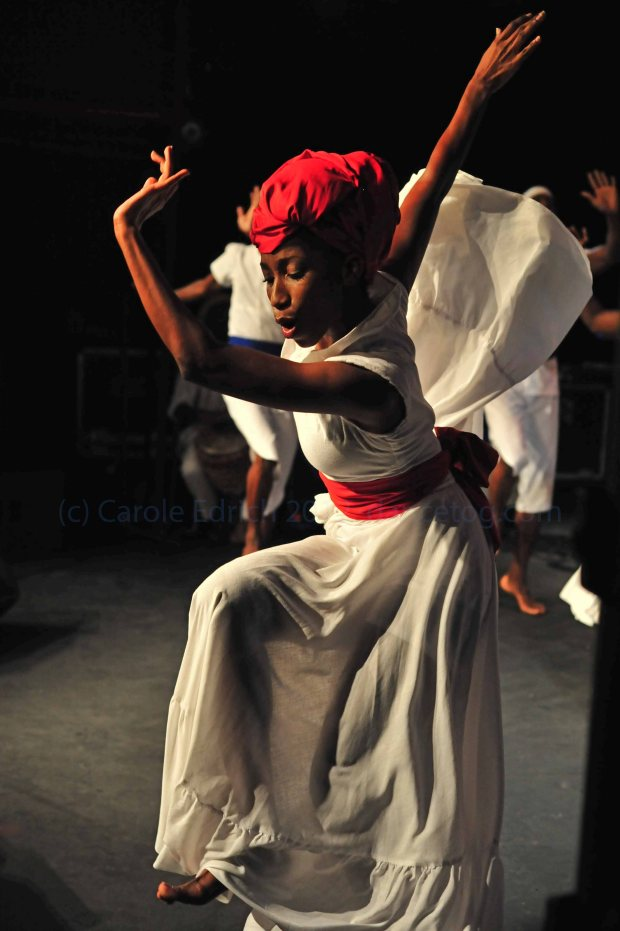 Dancers in the UWI Dance Ensemble at the opening of the Trinidad and Tobago Cultural Village