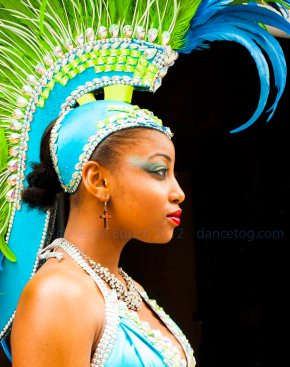 Carnival Dancer at Celebration of Tobago's Independence in London