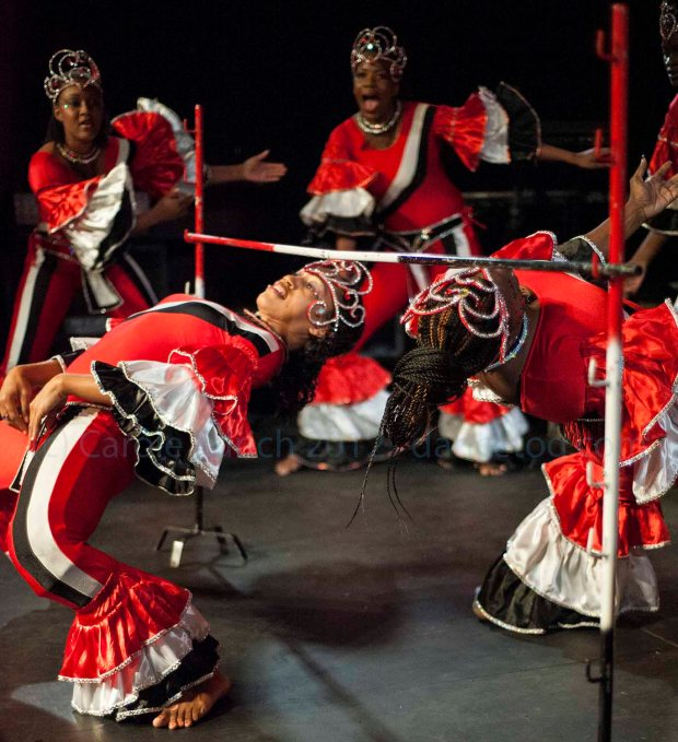 Members of Belmont Freetown performing at the Trinidad and Tobago Cultural Village
