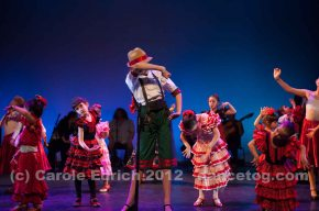 Children performing at Escuela de Baile's Flamenco Spectacular