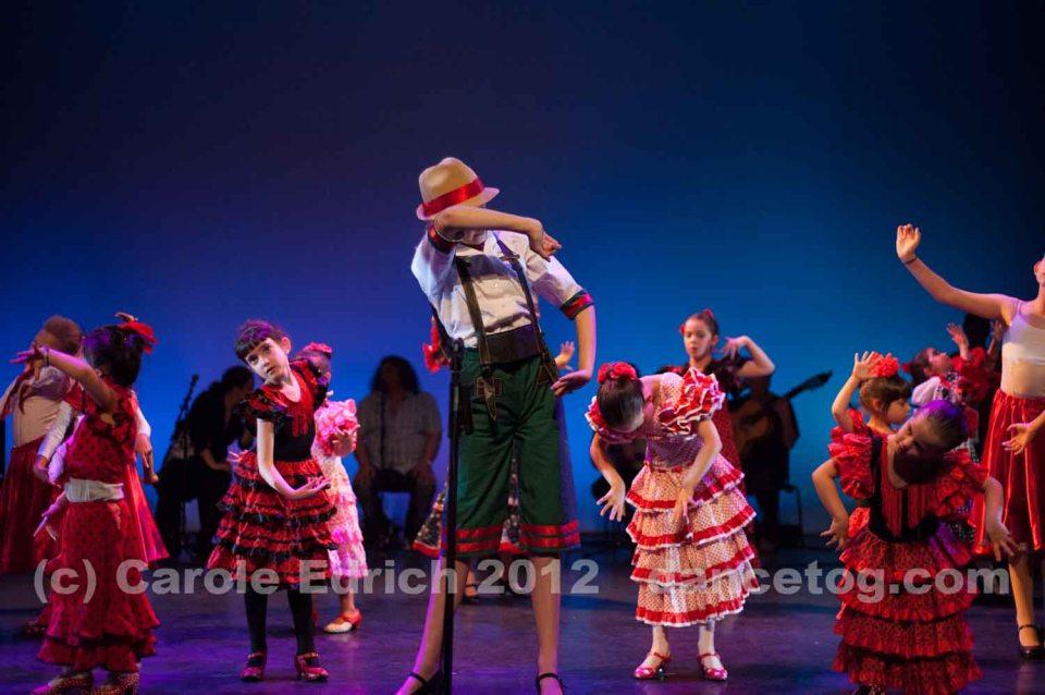 Children performing at Escuela de Baile's Flamenco Spectacular
