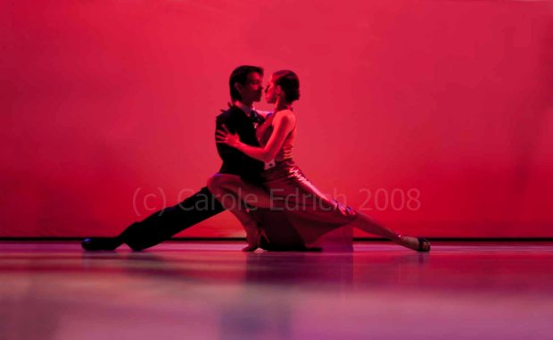Kim and David Benitez dancing tango at Sadler's Wells Dance Club, 2008