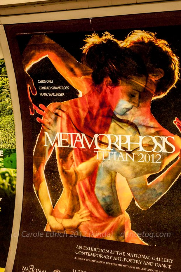 Underground poster of the National Gallery's Titian/Metamorphosis exhibition
