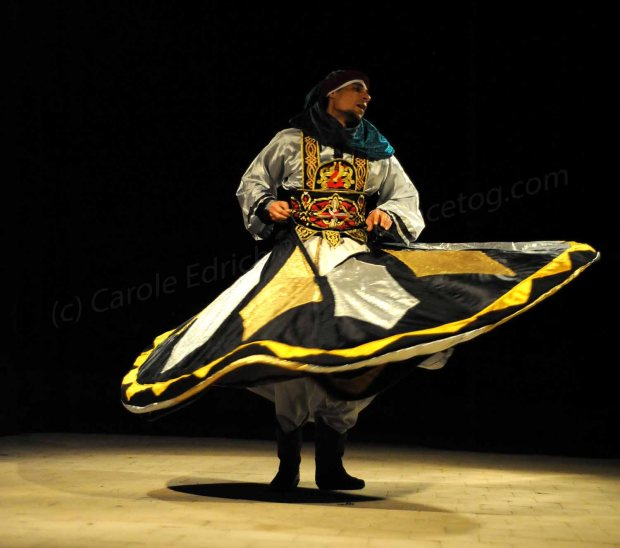 Whirling dervish in the Egyptian desert about an hour inland from Sharm El Sheikh