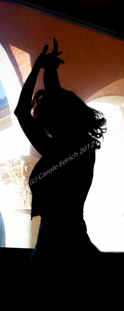silhouette of single dancer at the Biltmore Hotel, Miami