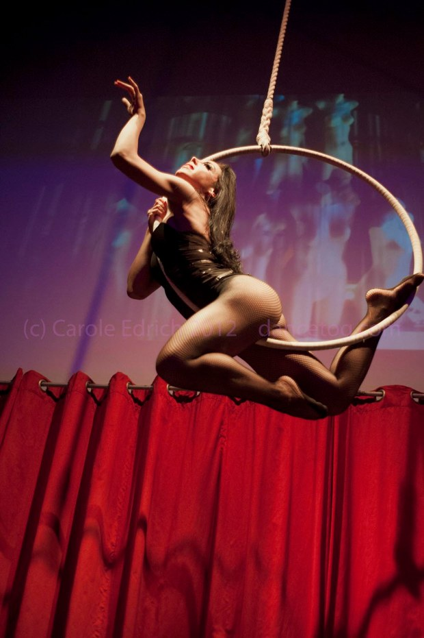 Allie Ho Chee on the hoop in Tainted Virtue at the Brickhouse