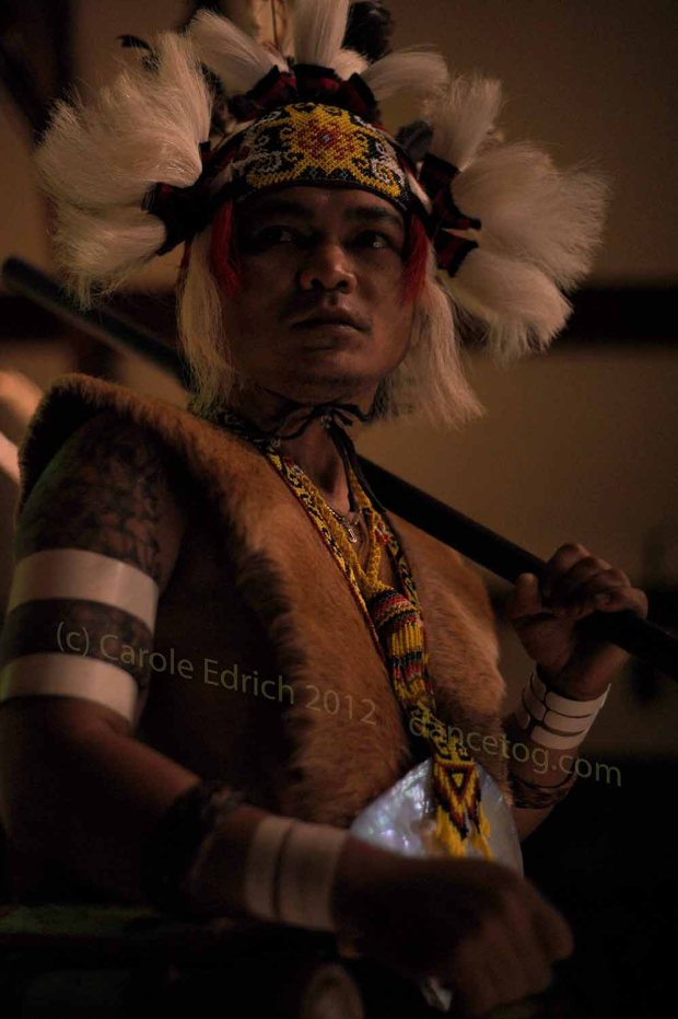 Gawaii performer with blowpipe