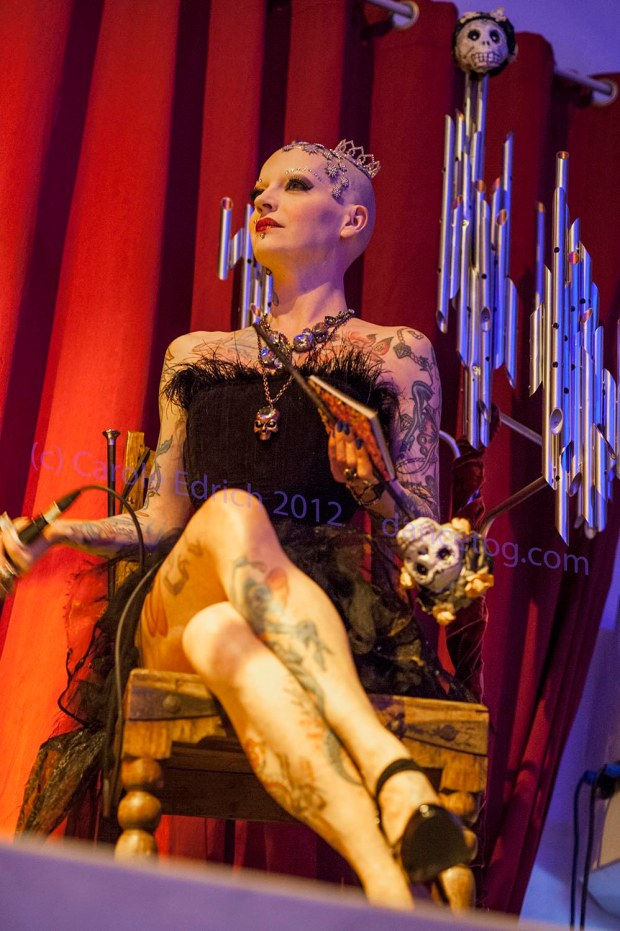 Polly Fey, hosting the performance Tainted Virtue at the Brickhouse