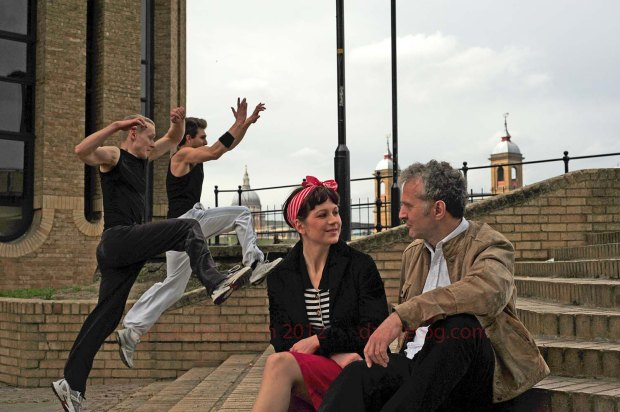 Aila of The Bees Knees and Andrew dance around London