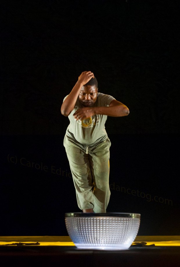 Gregory Maquoma performing Africa Utopia at the Barbican