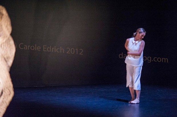 Yolande Yorke-Edgell dancing as Marilyn Munroe in Noted, part of Words Worth at the Lilian Baylis Studio