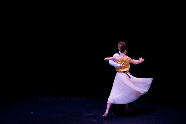 Dancers performing Anton Du Beke's 'Easy to Love' at the Lilian Baylis Theatre