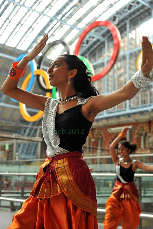 Young dancers from Akademi celebrating the official launch of Big Dance 2012 at St Pancras Station