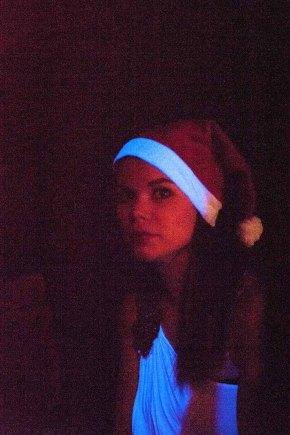 City Academy dancer in the dark, (c) Carole Edrich 2012
