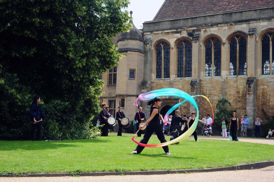 Ribbon dancers at Greenwich Cultural Festival 2010
