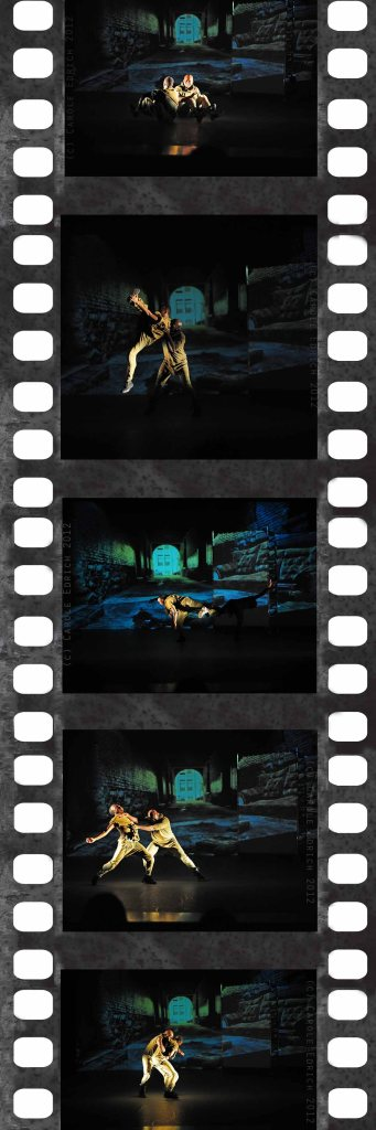 Filmstrip: Illegal Dance performed at Stratford Circus in 2011, (c) Carole Edrich 2011 and 2012
