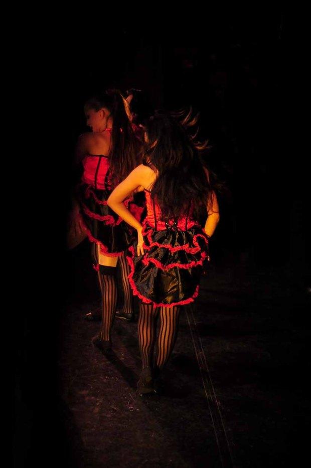 Burlesque dancers at the City Academy Showcase November 2012. (c) Carole Edrich 2012
