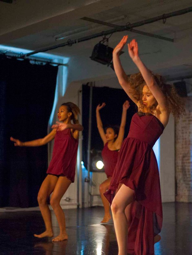 Dancers performing in Unwritten at One Youth Dance, (c) Carole Edrich 2012