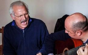 Singer Antonio Piponillo and guitarist-president Antonio Rodgrigues at Peña del Cante Jondo in Moguer, Huelva. (c) Carole Edrich 2013