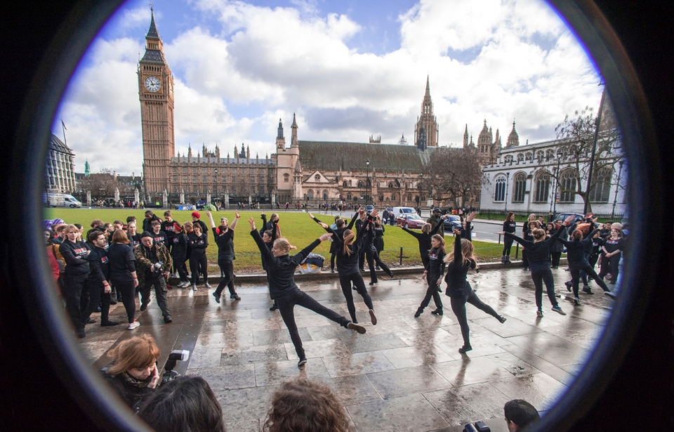OBR Flashmob performing in Parliament Square, (c) Carole Edrich 2013