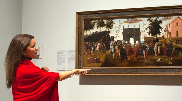 Siân Walters describing the story of Griselda in The Story of Griselda, Part 1: Marriage, c 1494, by the Master of the Story of Griselda (active c1490-1500), (c) the National Gallery, London, photo (c) Carole Edrich