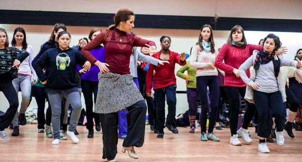 OBR Flashmob class - Flamenco Component, (c) Carole Edrich 2013