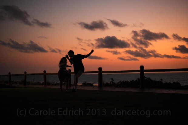 Children dancing on Cable Beach, (c) Carole Edrich 2011