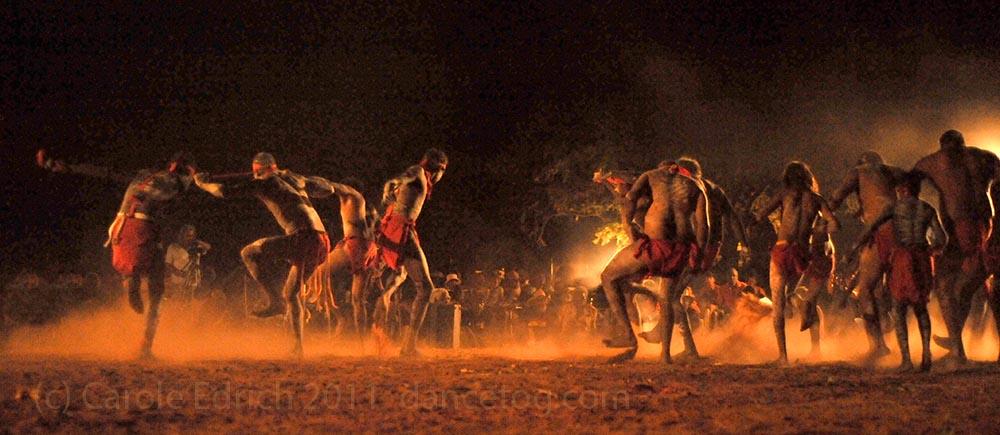 Dancers at KALACC, near Fitzroy Crossing. (c) Carole Edrich 2011
