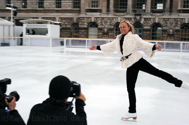 Jayne Torvill at the launch of the 2010 Somereset House Ice Rink, (c) Carole Edrich 2010