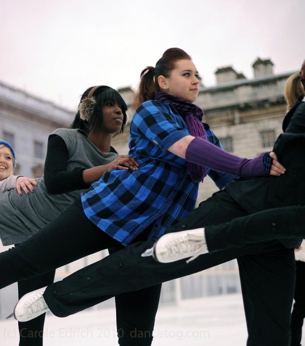 The Somerset House Ice Team at the opening of the 2011 Ice Rink, (c) Carole Edrich 2010