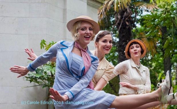 The Bees Knees dance the Charleston on a rainy Sunday, (c) Carole Edrich 2013