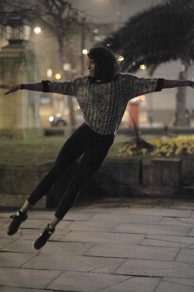 Jumping outside the cafe for #HackneyLive in February