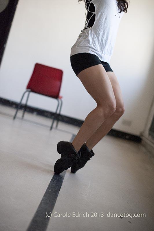Andrea Pelaez Lyons' legs, RADA, July 2013