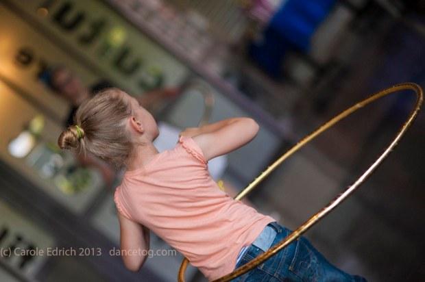 The youngest hoop workshop attendee at Watermans Big Dance Weekend 2013