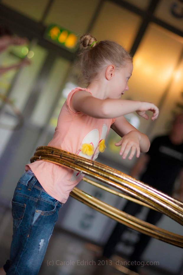 The youngest hoop workshop attendee at Watermans Big Dance Weekend 2013