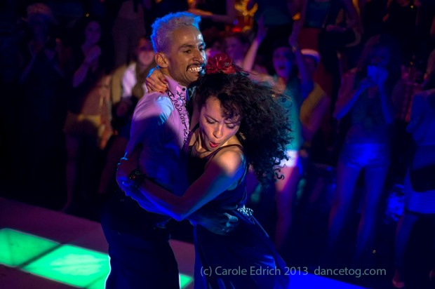 Dancers at the last Saturday Night Fever Secret Cinema, London. (c) Carole Edrich 2013.