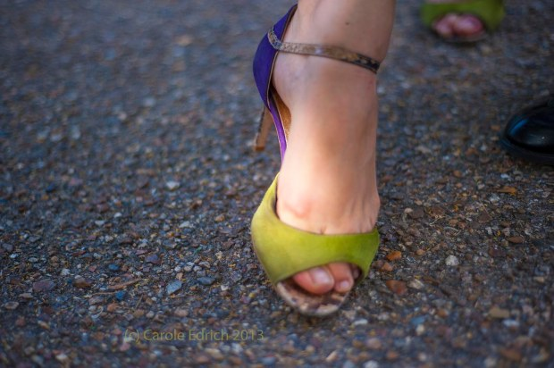 Julia Mastrogiannaki's feet, dancing tango at Tango Al Fresco, July 2013. A clue to the next workshops I'll be holding