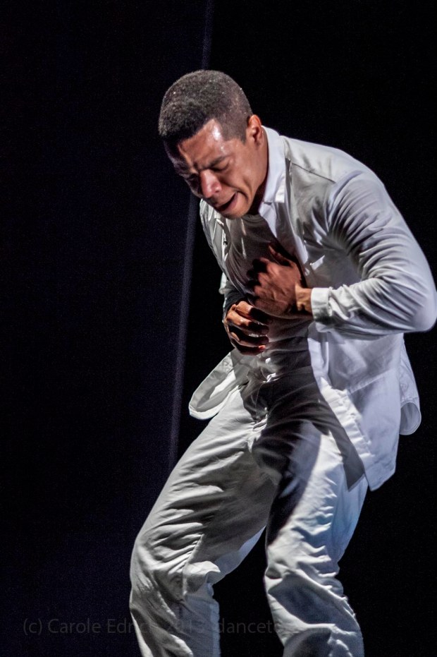 Jean Abreu in 'Blood' at the Linbury Studio Theatre, Royal Opera House. London 27th June 2013