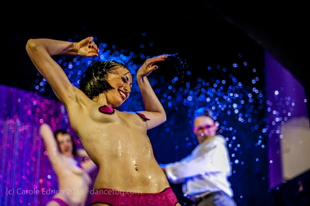 Wet dancer: the First Wam Bam Club at the Bloomsbury Ballrooms. London. (c) Carole Edrich 2013.