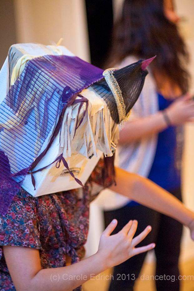 Cat interprets the One Youth Dance audition choreography, (c) Carole Edrich 2013