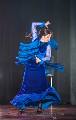 Manuela Vargas dancing the Solea de los Vargas in Dos Ramas, Chelmsford. (c) Carole Edrich 2013